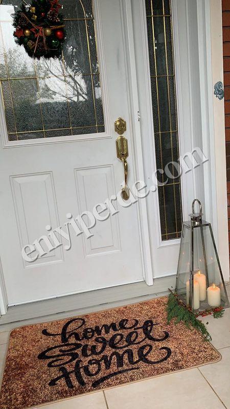 (Kahverengi) Home Sweet Home  Lateks Taban Su Geçirmez (60x90 Ebat ) Kapıönü Paspası Fiyatı, Yorumları - Eniyiperde.com - 1