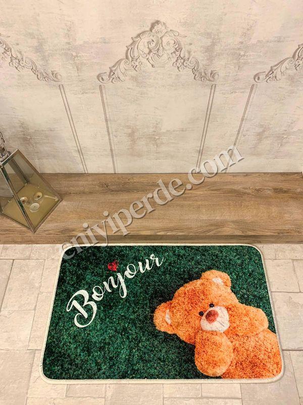 (Yeşil) Redial Sevgililer Günü Kaymaz Taban Kapı Önü Paspası (Ebat 50X70) Fiyatı, Yorumları - Eniyiperde.com - 1