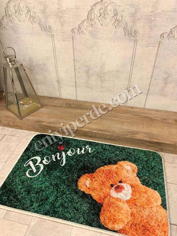 (Yeşil) Redial Sevgililer Günü Kaymaz Taban Kapı Önü Paspası (Ebat 50X70) Fiyatı, Yorumları - Eniyiperde.com - 2