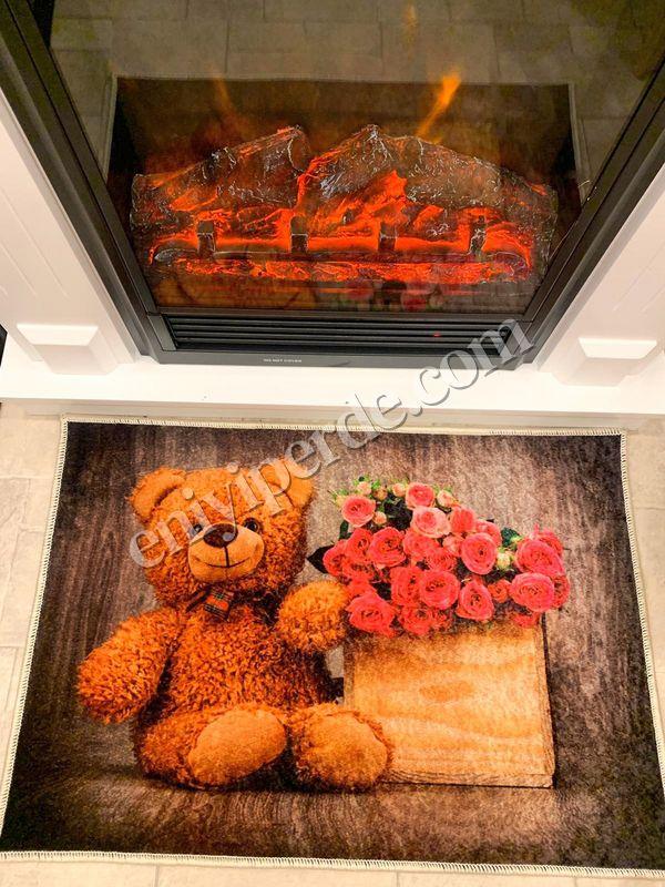 (Kahverengi) Sıla Sevgililer Günü Kaymaz Taban Kapı Önü Paspası (Ebat 50X70) Fiyatı, Yorumları - Eniyiperde.com - 2