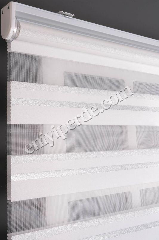 () Ewinas Yeni Sezon Yıldız Beyaz Gümüş Sim Zebra Perde Yıldız01 Fiyatı, Yorumları - Eniyiperde.com - 4
