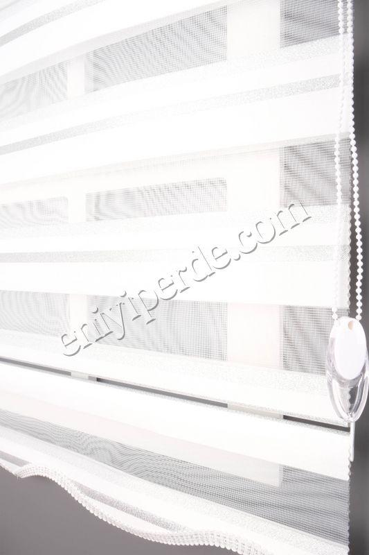 () Ewinas Yeni Sezon Yıldız Beyaz Gümüş Sim Zebra Perde Yıldız01 Fiyatı, Yorumları - Eniyiperde.com - 5