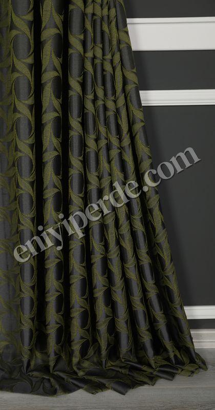 (Yeşil, Haki) İnci Fon Perde Yeşil 9214-571 Fiyatı, Yorumları - Eniyiperde.com - 3