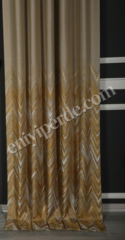 (Sarı) Asel Fon Perde Sarı 9091-519 Fiyatı, Yorumları - Eniyiperde.com - 2
