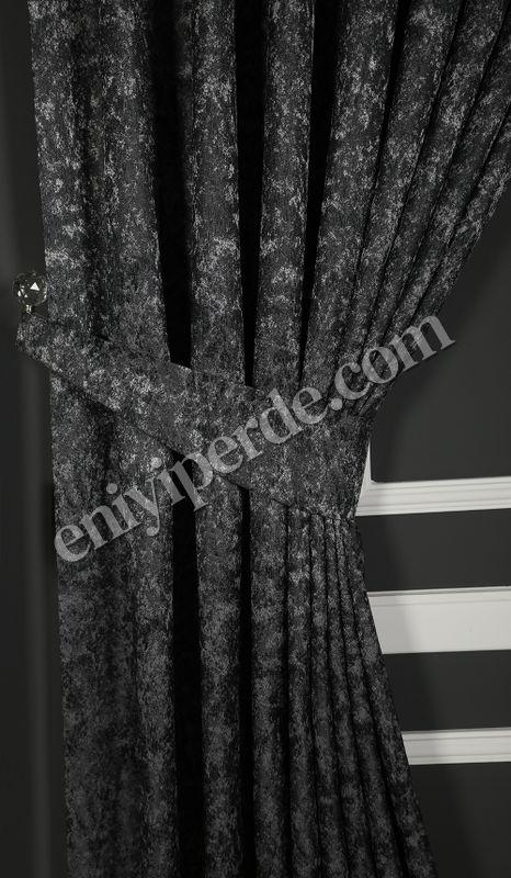 (Siyah) Merva Desenli Fon Perde Siyah 01 Fiyatı, Yorumları - Eniyiperde.com - 2