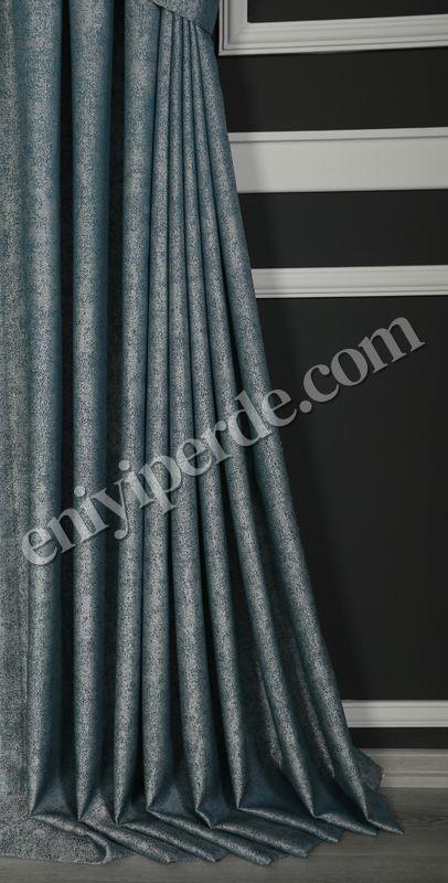 (Mavi) Palermo Jakar Fon Perde Mavi 67705-04 Fiyatı, Yorumları - Eniyiperde.com - 3
