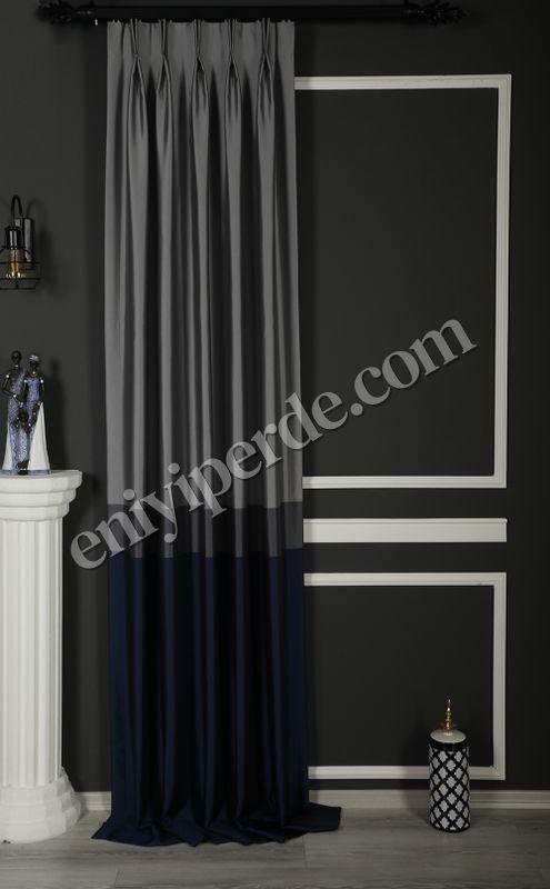 (Lacivert) Pamir Blok Desen Fon Perde Lacivert 9220-588 Fiyatı, Yorumları - Eniyiperde.com - 1