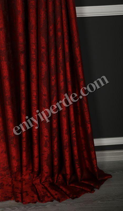(Kırmızı) Quartz Fon Perde Kırmızı 1794 Fiyatı, Yorumları - Eniyiperde.com - 3