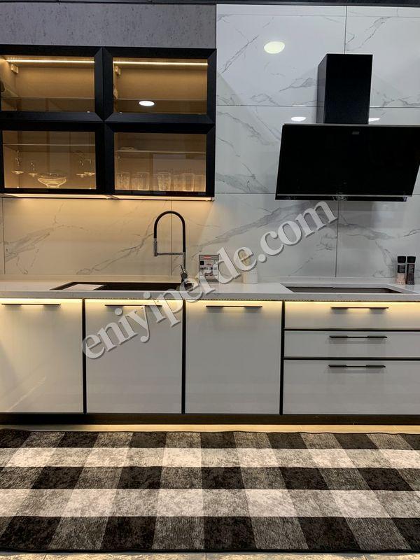 (Mavi) Brugge Model Pötikare Lateks Kaymaz Taban Saçakszı Mutfak Halı Fiyatı, Yorumları - Eniyiperde.com - 1