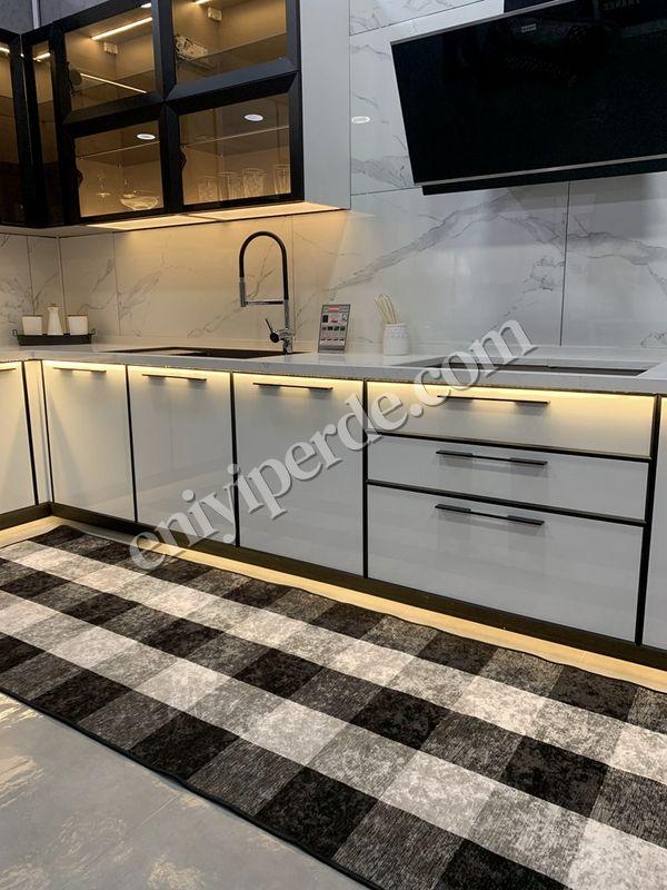 (Mavi) Brugge Model Pötikare Lateks Kaymaz Taban Saçakszı Mutfak Halı Fiyatı, Yorumları - Eniyiperde.com - 3