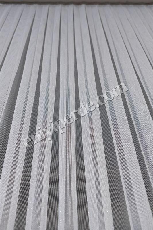 (Ekru) Çizgili Düz Tül Perde Çelik Tül Fiyatı, Yorumları - Eniyiperde.com - 8