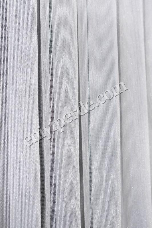 (Ekru) Çizgili Düz Tül Perde Çelik Tül Fiyatı, Yorumları - Eniyiperde.com - 7