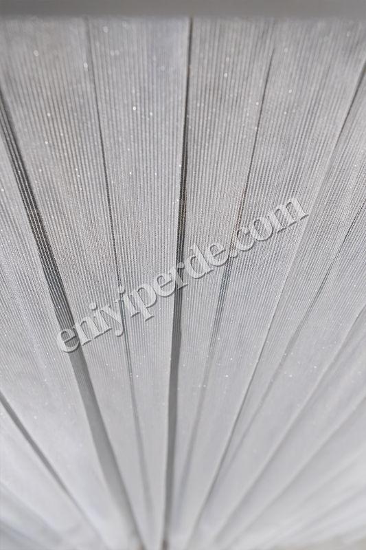 (Ekru) Çizgili Düz Tül Perde Çelik Tül Fiyatı, Yorumları - Eniyiperde.com - 5