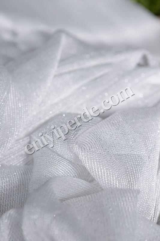 (Ekru) Çizgili Düz Tül Perde Çelik Tül Fiyatı, Yorumları - Eniyiperde.com - 2