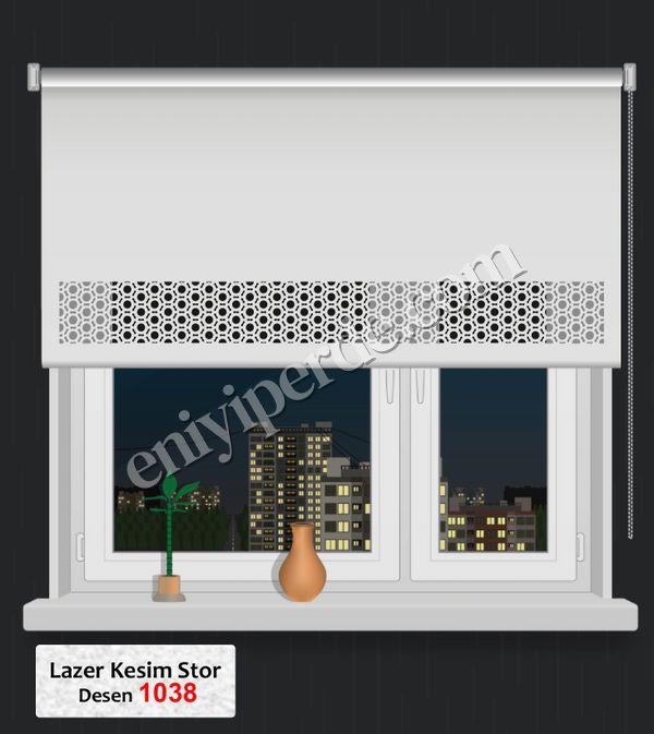 (Ekru) Lazer Kesim Stor 1038 Fiyatı, Yorumları - Eniyiperde.com - 1