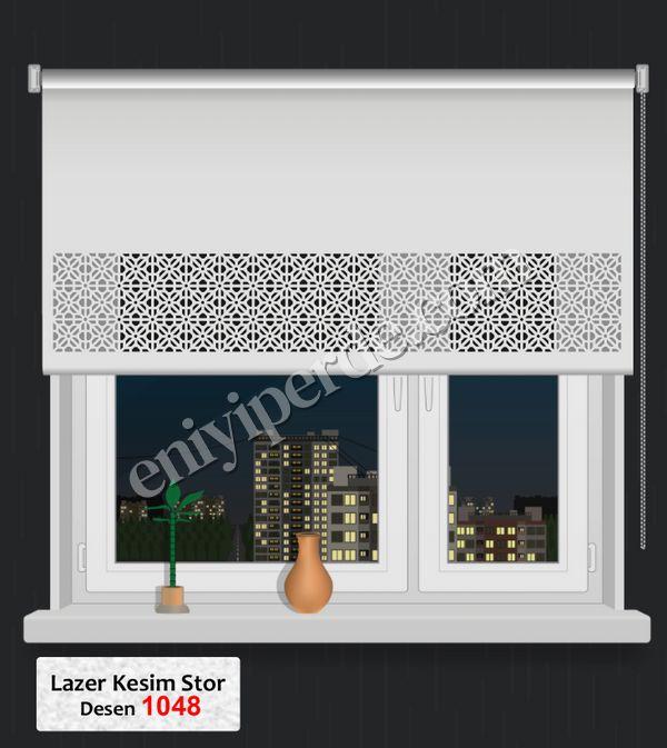 (Ekru) Lazer Kesim Stor 1048 Fiyatı, Yorumları - Eniyiperde.com - 1