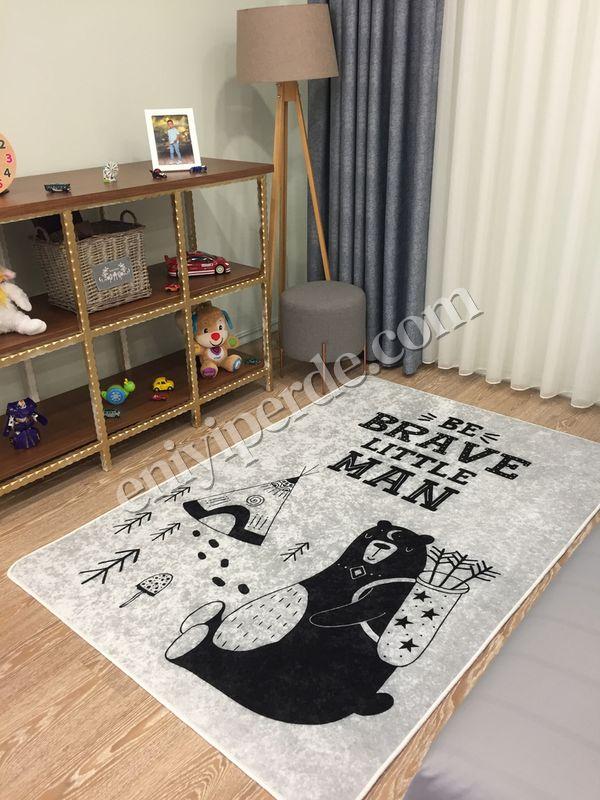 (Siyah) Sevimli Ayı Lateks Kaymaz Taban Leke Tutmaz Çocuk Halı Fiyatı, Yorumları - Eniyiperde.com - 2