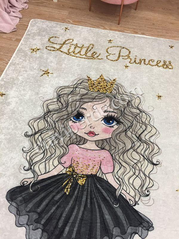 (Bej) Prenses Model Lateks Kaymaz Taban Leke Tutmaz Çocuk Halı Fiyatı, Yorumları - Eniyiperde.com - 3