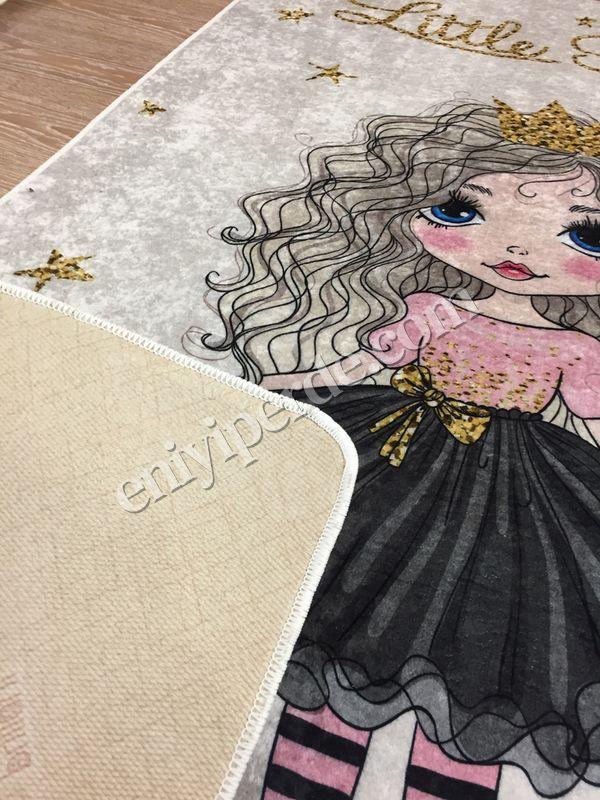 (Bej) Prenses Model Lateks Kaymaz Taban Leke Tutmaz Çocuk Halı Fiyatı, Yorumları - Eniyiperde.com - 4