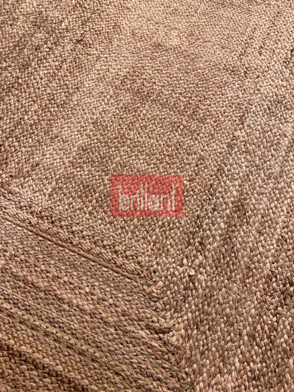 (Kahverengi) Hasır Jüt Görünümlü 3D Renkli Lateks Deri Taban Su Geçirmez Leke Tutmaz Halı Fiyatı, Yorumları - shop.brillant.com - 6