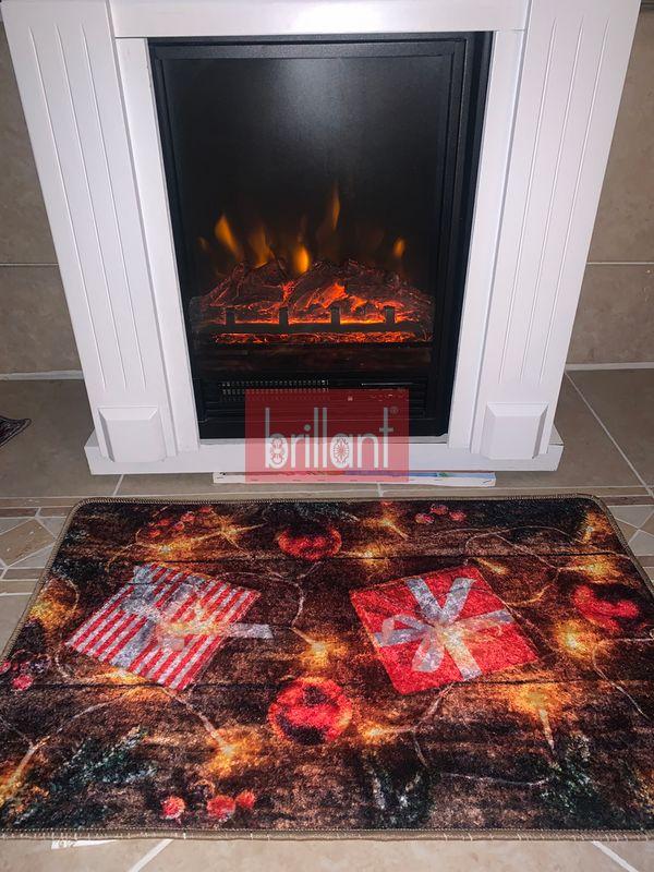 (Çok Renkli) Gift Yılbaşı Temalı Lateks Kaymaz Taban Kapı Önü Paspası (Ebat 60x90) Fiyatı, Yorumları - shop.brillant.com - 2