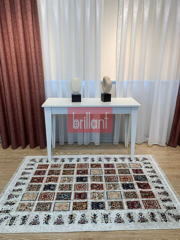(Bej) Şönil Görünüm Saçaklı Etnik Kilim Halı Fiyatı, Yorumları - shop.brillant.com - 1