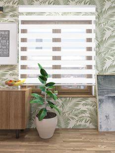 Bambu Beyaz Zebra Perde - 7101 (01)
