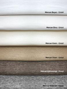 (Beyaz) Mercan Beyaz Zebra Perde - (7120) Fiyatı, Yorumları - Eniyiperde.com - 4