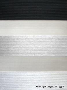 (Siyah, Beyaz, Gri) Milion Siyah - Beyaz - Gri Yeni Sezon Zebra Perde - (7754) Fiyatı, Yorumları - Eniyiperde.com - 4