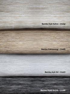 (Siyah) Bambu Siyah Kırçıllı Zebra Perde - (7108) Fiyatı, Yorumları - Eniyiperde.com - 4