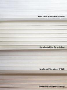 (Beyaz) Hera Geniş Plise Beyaz Zebra Perde - (7806) Fiyatı, Yorumları - Eniyiperde.com - 4