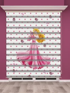 Dijital Baskılı Kız Çocuk Odası Zebra Perde - PM 002-1