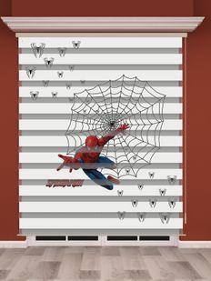 Örümcek Adam Baskılı Erkek Çocuk Odası Zebra Perde - PM 011-1