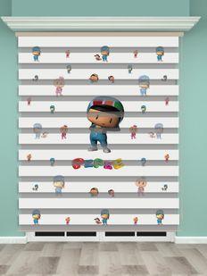 Pepe Baskılı Çocuk Odası Zebra Perde - PM 021-1