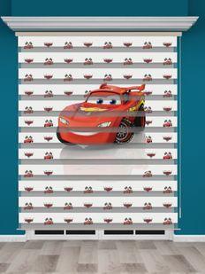 Arabalar Baskılı Erkek Çocuk Odası Zebra Perde - PM 032-1