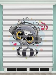 Dijital Baskılı Bebek Odası Zebra Perde - PM 038