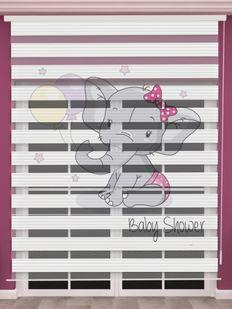 () Fil Baskılı Kız Bebek Odası Zebra Perde - PM 049 Fiyatı, Yorumları - Eniyiperde.com - 2