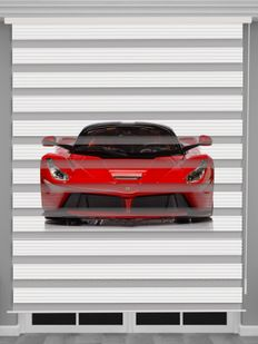Kırmızı Araba Baskılı Erkek Çocuk Odası Zebra Perde - PM 057