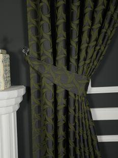 (Yeşil, Haki) İnci Fon Perde Yeşil 9214-571 Fiyatı, Yorumları - Eniyiperde.com - 2
