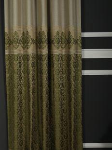 (Haki, Yeşil) Lotus Fon Perde Krem Haki AJR-9094-515 Fiyatı, Yorumları - Eniyiperde.com - 2