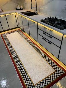 (Çok Renkli) Brillant Rosen Model Kaymaz Taban Leke Tutmaz Mutfak Halısı Fiyatı, Yorumları - Eniyiperde.com - 2