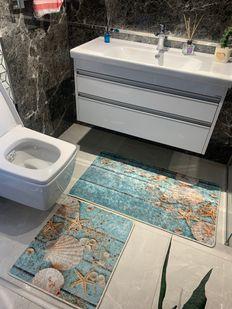 (Mavi) 2'li Lateks Kaymaz Taban Saçaksız Banyo Paspas Takımı Fiyatı, Yorumları - Eniyiperde.com - 2