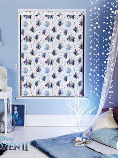 xx Elsa Baskılı resimli kız çocuk odası stor perde