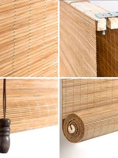 Natural bambu stor perde 02