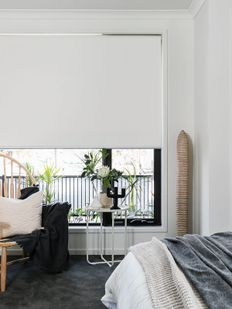 Yatak Odası Beyaz Stor PErde Modelleri