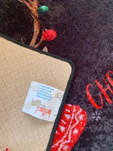 (Çok Renkli) Christmas Yılbaşı Temalı Lateks Kaymaz Taban Kapı Önü Paspası (Ebat 60x90) Fiyatı, Yorumları - shop.brillant.com - 3