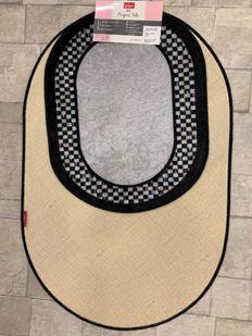 (Gri) Lateks Taban Su Geçirmez Saçaksız (70x110 - 70x50) İkili Banyo Paspas Takımı Fiyatı, Yorumları - shop.brillant.com - 3