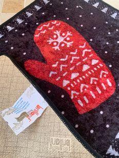(Çok Renkli) Glove Yılbaşı Temalı Lateks Kaymaz Taban Kapı Önü Paspası (Ebat 60x90) Fiyatı, Yorumları - shop.brillant.com - 2
